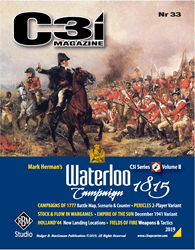 C3i Magazine Nr 33: The Waterloo Campaign 1815 (new from RBM Studio)
