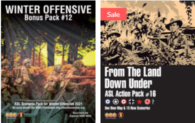 ASL Pack #16 and Winter Offensive Bonus Pack #12 (new from Multi-Man Publishing)