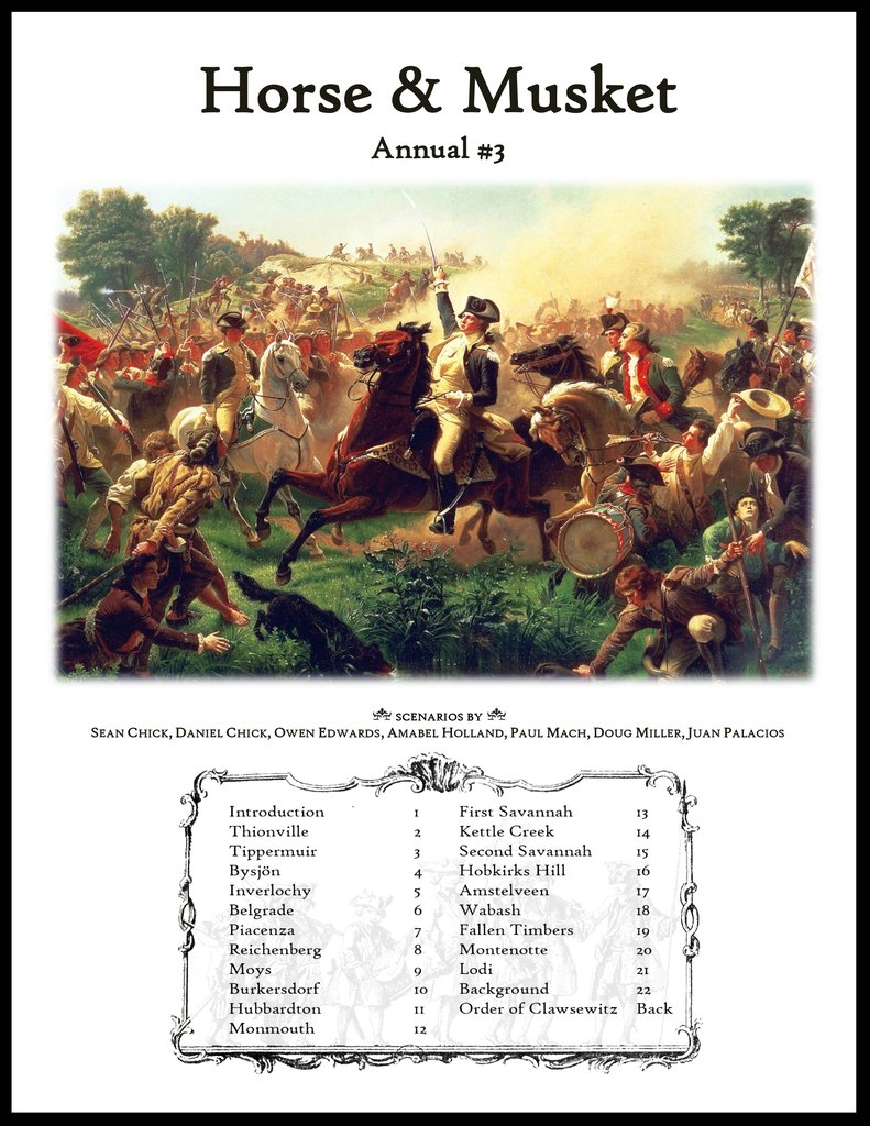 Horse & Musket Annual #3 (new from Hollandspiele)